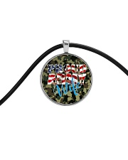Proud Army Wife Cord Circle Necklace thumbnail