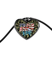 Proud Army Wife Cord Heart Necklace thumbnail
