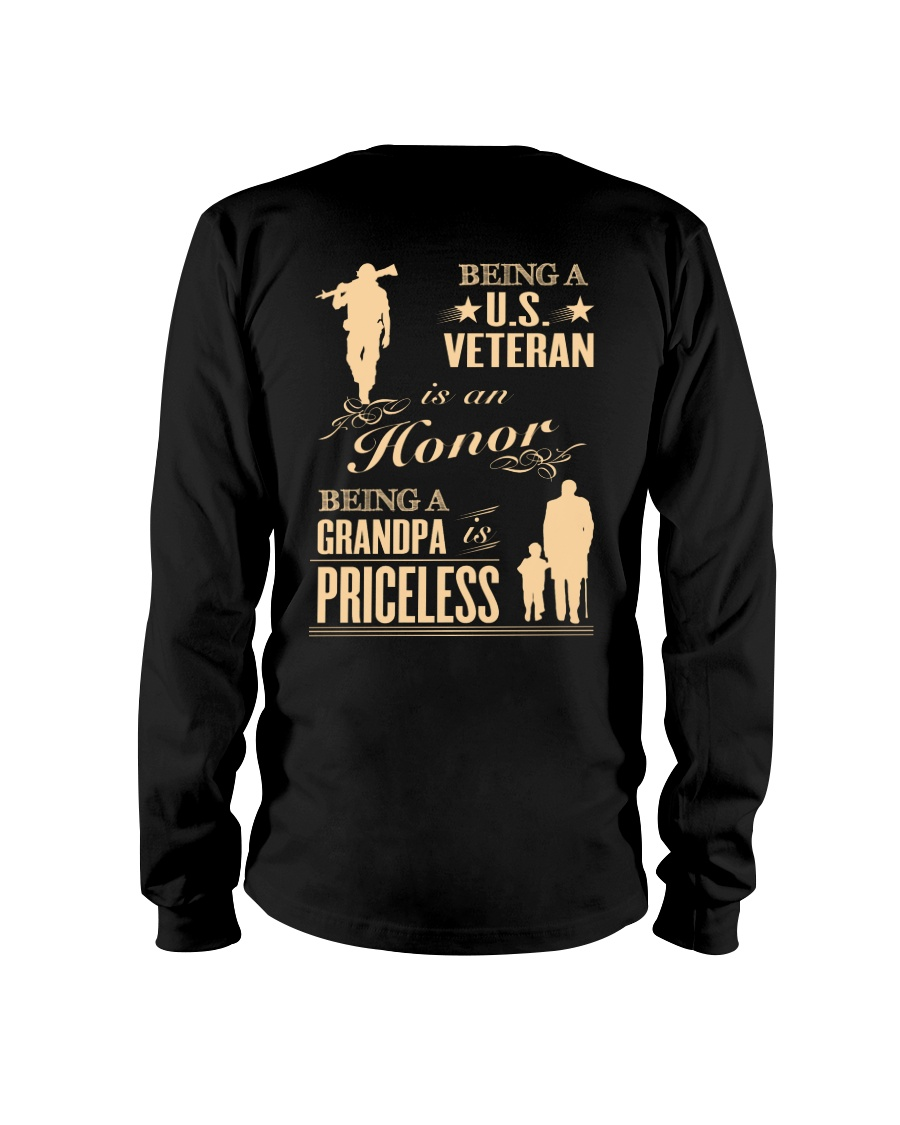 LIMITED EDITION - BEING A US VETERAN - GRANDPA Long Sleeve Tee