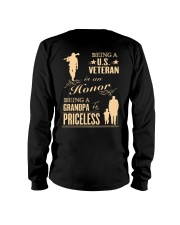 LIMITED EDITION - BEING A US VETERAN - GRANDPA Long Sleeve Tee back