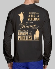 LIMITED EDITION - BEING A US VETERAN - GRANDPA Long Sleeve Tee lifestyle-unisex-longsleeve-back-1