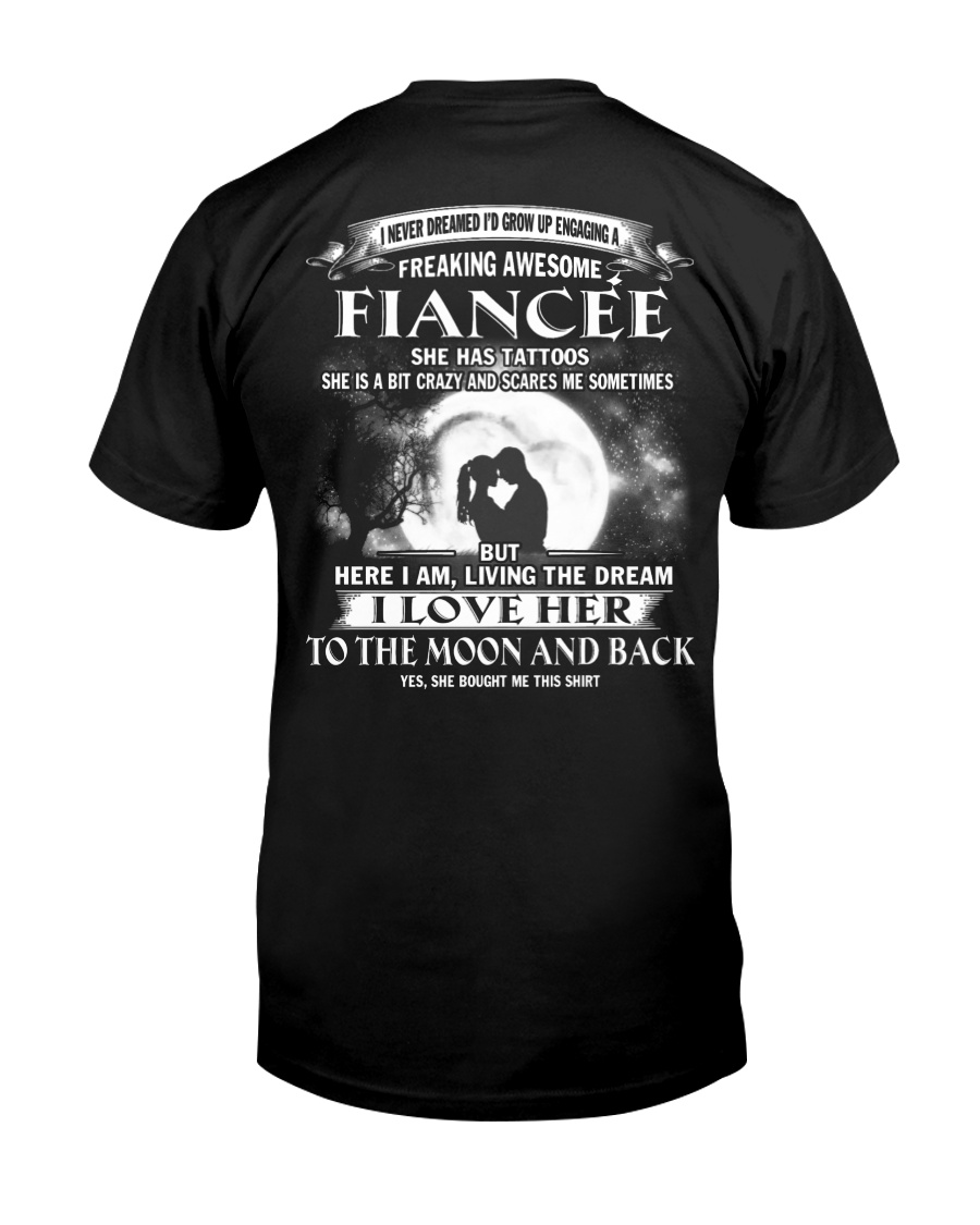 LOVE FIANCEE TO THE MOON AND BACK - TATTOOS Classic T-Shirt