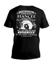 LOVE FIANCEE TO THE MOON AND BACK - TATTOOS V-Neck T-Shirt thumbnail