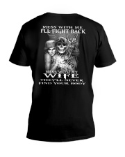 MESS WITH MY WIFE  V-Neck T-Shirt thumbnail