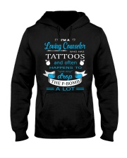 A LOVING COUNSELOR HAPPENS TO DROP THE F-BOMB Hooded Sweatshirt thumbnail