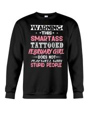 SMARTASS TATTOOED FEBRUARY GIRL Crewneck Sweatshirt thumbnail