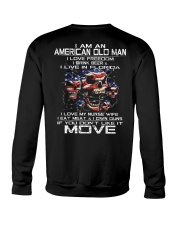 I Am An American Old Man - I Love My Nurse Wife Crewneck Sweatshirt thumbnail