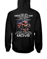 I Am An American Old Man - I Love My Nurse Wife Hooded Sweatshirt thumbnail