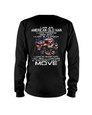 I Am An American Old Man - I Love My Nurse Wife Long Sleeve Tee thumbnail