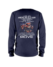 I Am An American Old Man - I Love My Nurse Wife Long Sleeve Tee back