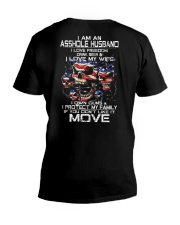 I AM AN ASSHOLE HUSBAND V-Neck T-Shirt thumbnail
