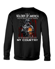 I'm A Soldier Of AMERICA - I Love My Country Crewneck Sweatshirt thumbnail