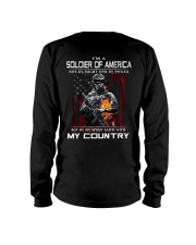 I'm A Soldier Of AMERICA - I Love My Country Long Sleeve Tee back
