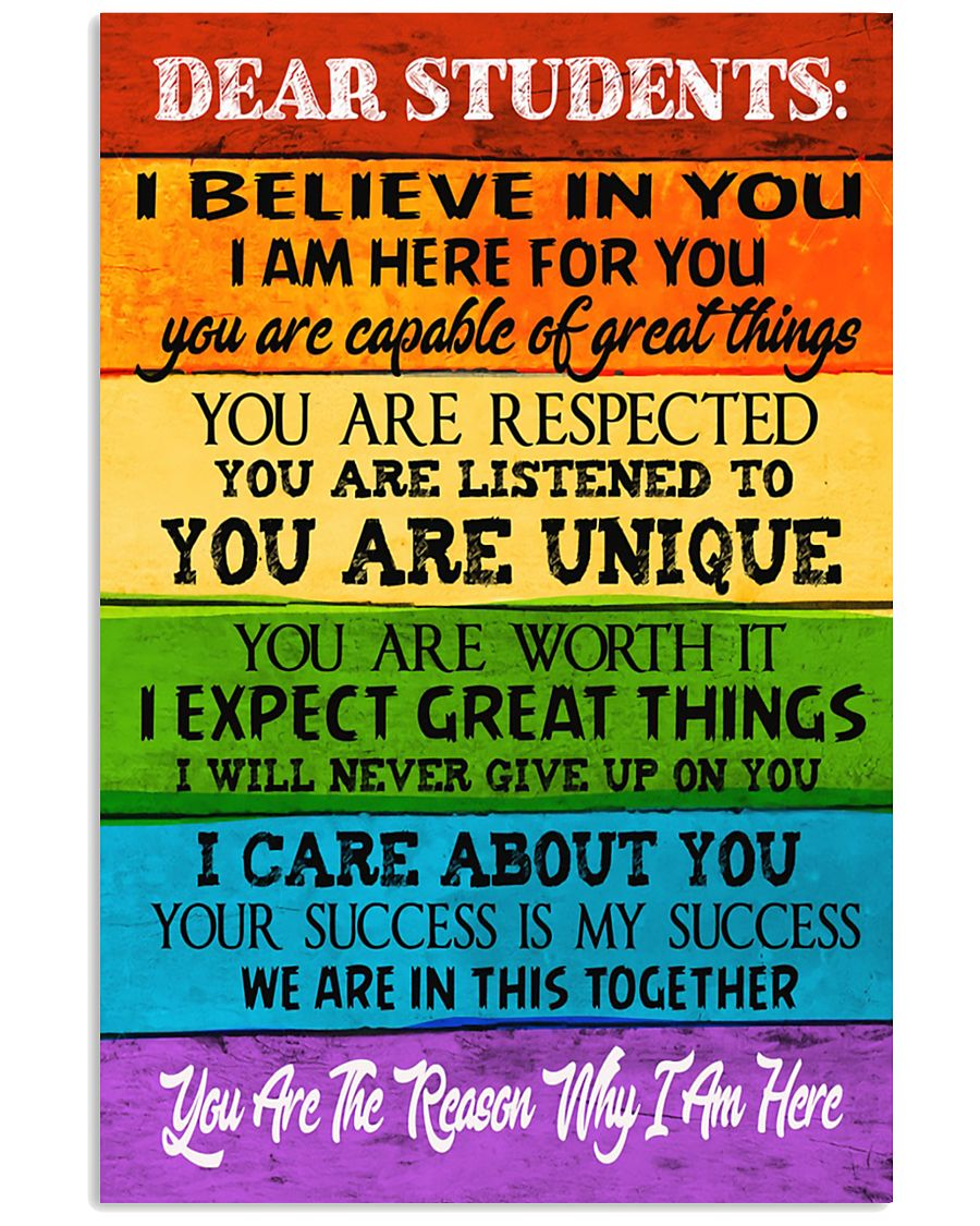 DEAR STUDENTS 11x17 Poster