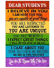 DEAR STUDENTS 11x17 Poster front