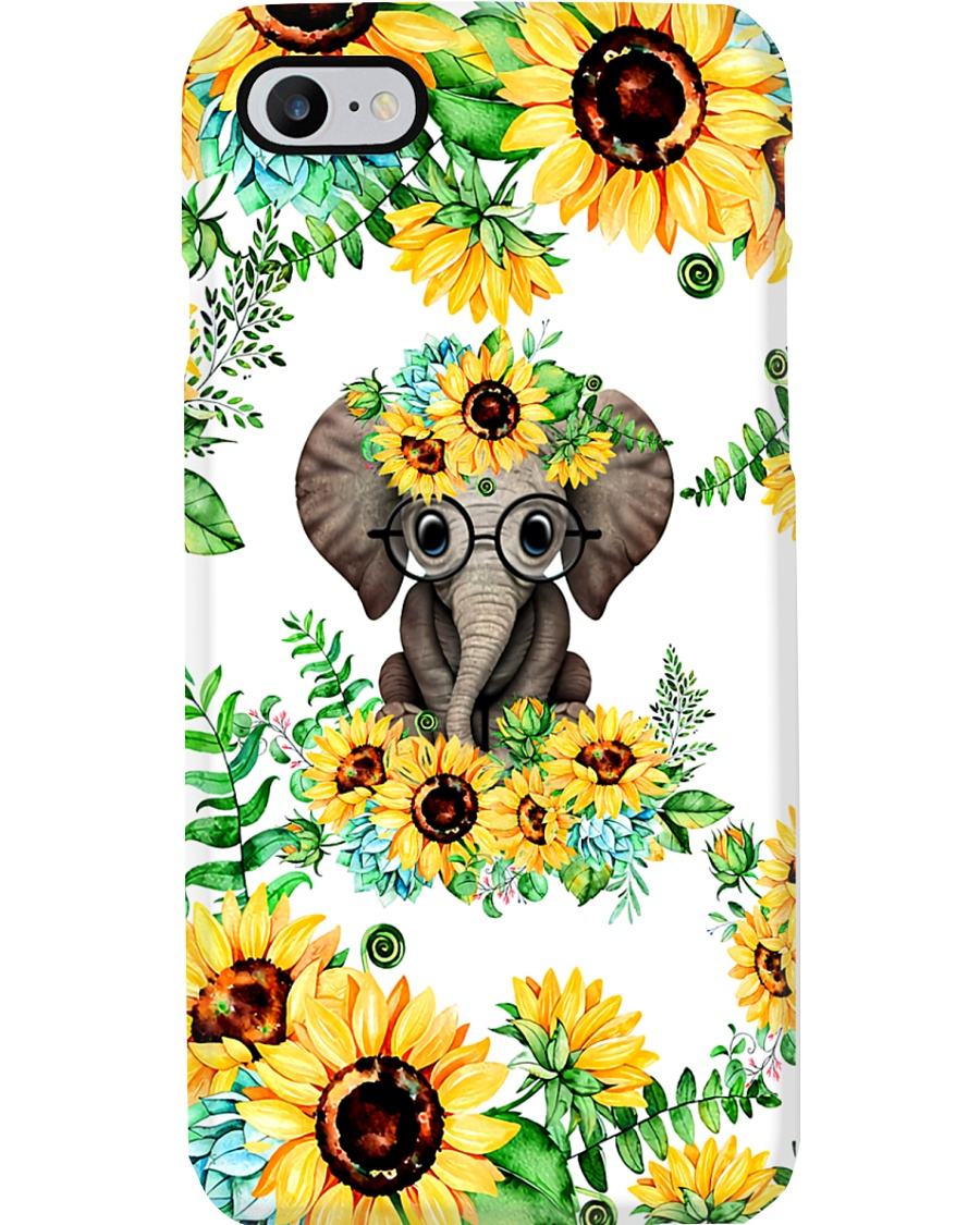 ELEPHANT SUNFLOWER  Phone Case