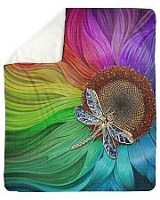 "Sunflower - Dragonfly Sherpa Fleece Blanket - 50"" x 60"" thumbnail"