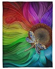 "Sunflower - Dragonfly Small Fleece Blanket - 30"" x 40"" thumbnail"