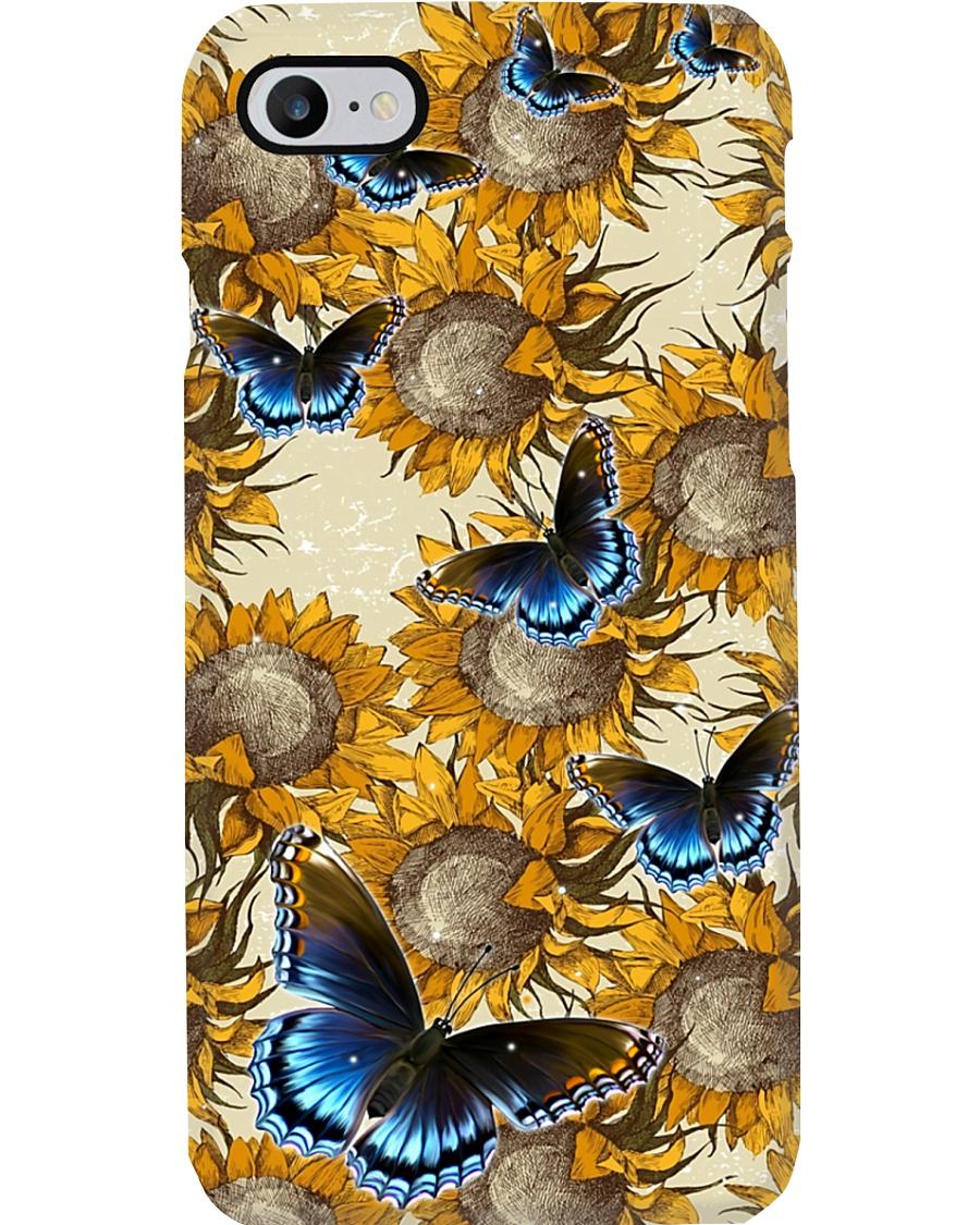 Sunflower - Butterfly Phone Case