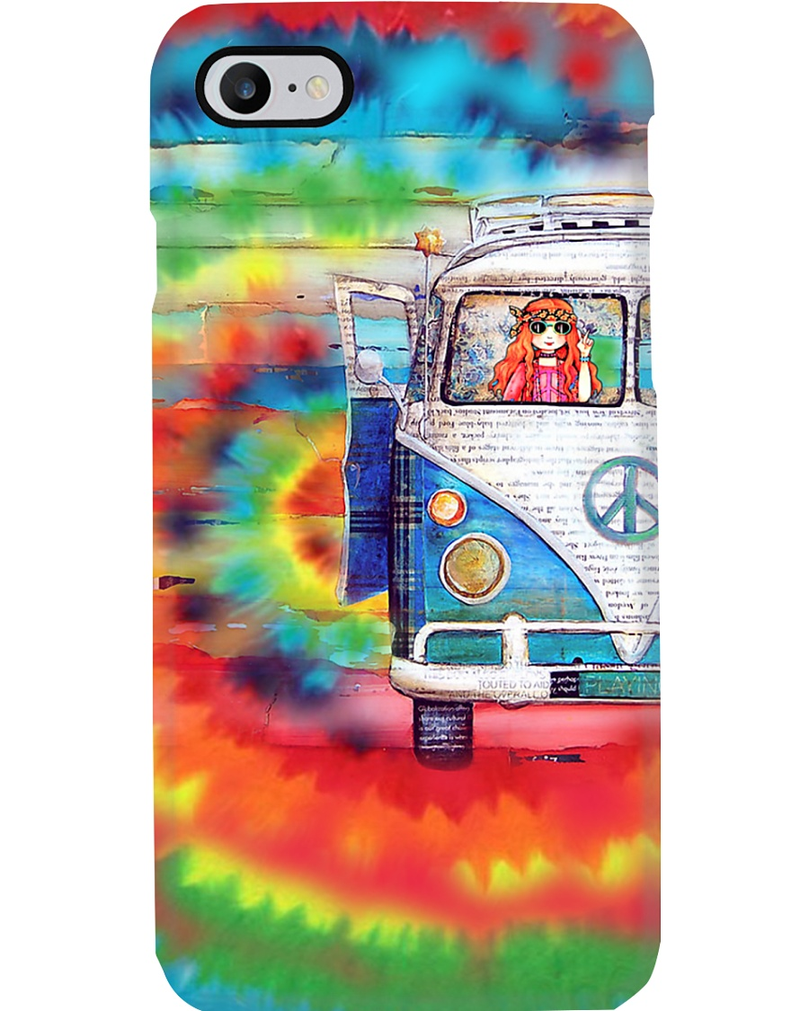 Hippie Girl - Vw Bus Phone Case