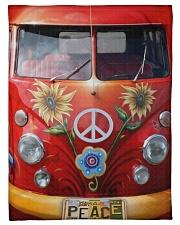 "Peace Vw Bus Small Fleece Blanket - 30"" x 40"" thumbnail"