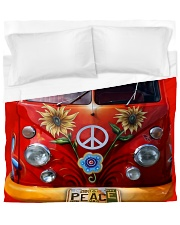 Hippie Vw Bus Duvet Cover - King thumbnail