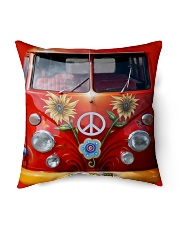 "Hippie Vw Bus Indoor Pillow - 16"" x 16"" thumbnail"
