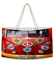 Hippie Vw Bus Weekender Tote tile