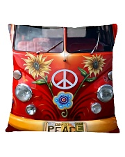 Hippie Vw Bus Square Pillowcase thumbnail