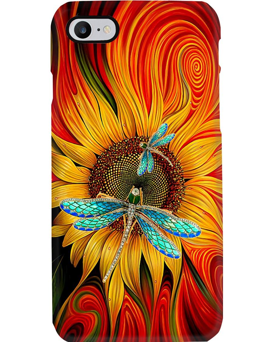 Dragonfly - Sunflower Phone Case