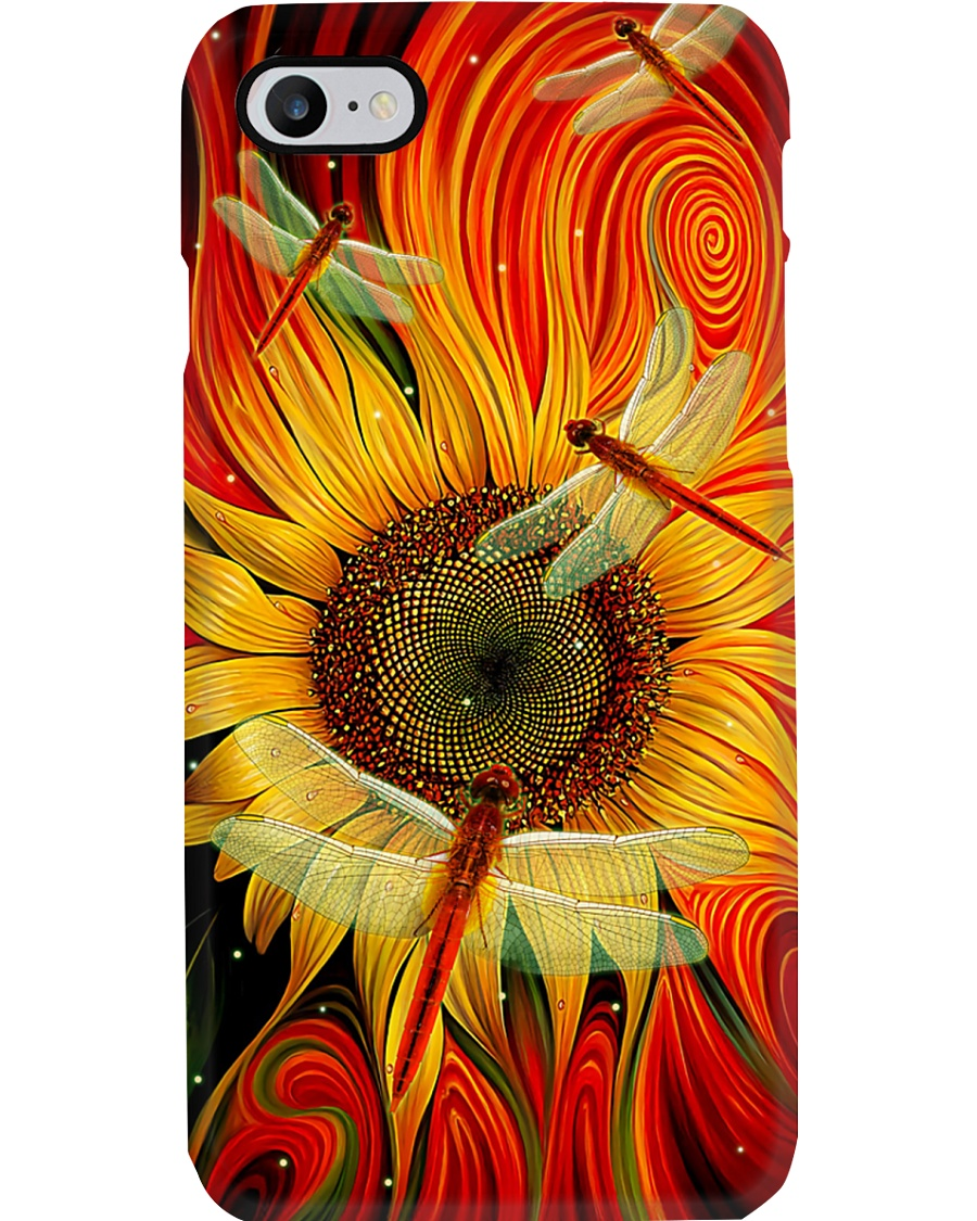 Sunflower - Dragonfly Phone Case