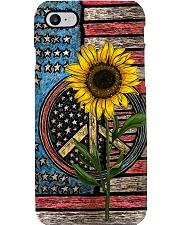Sunflower American Flag Phone Case i-phone-7-case