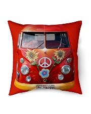 "Be Happy VW Bus Indoor Pillow - 16"" x 16"" thumbnail"