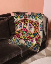 "Hippie Art Small Fleece Blanket - 30"" x 40"" aos-coral-fleece-blanket-30x40-lifestyle-front-05"