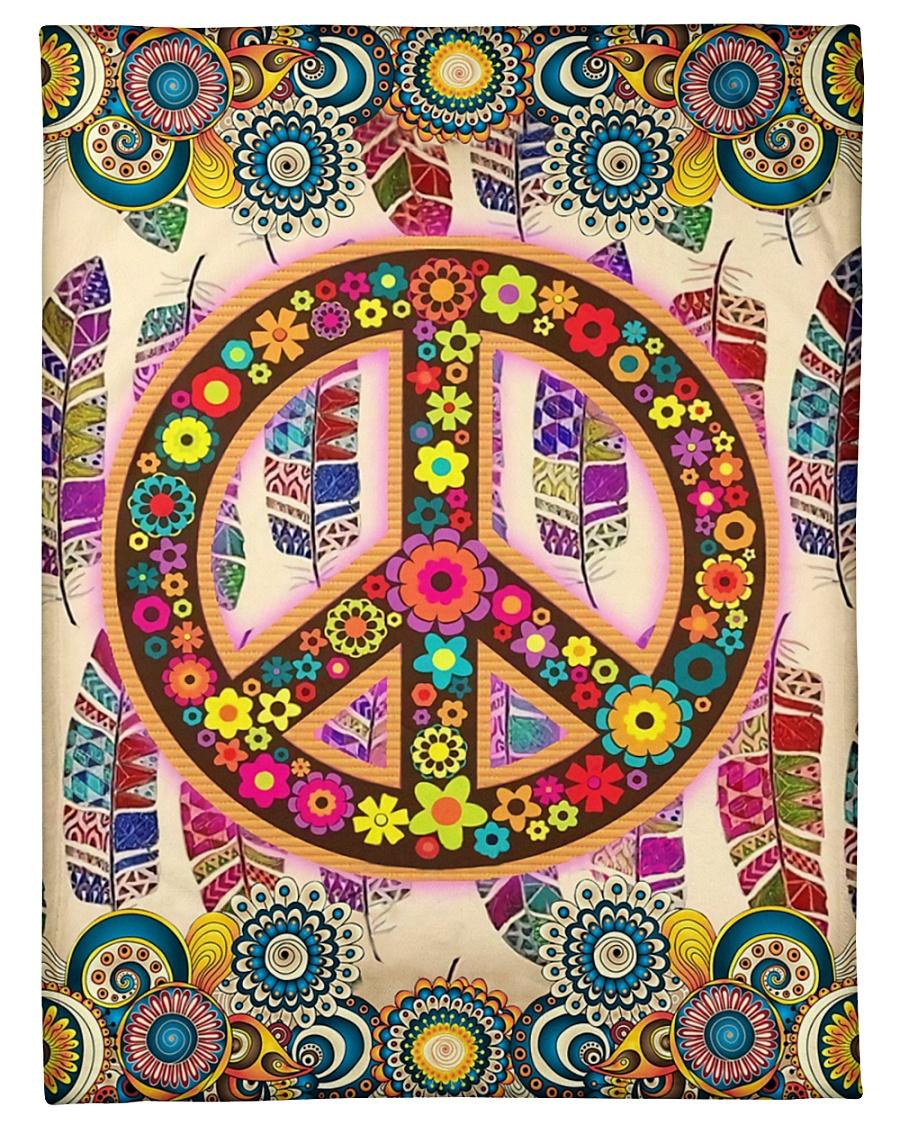 "Hippie Art Small Fleece Blanket - 30"" x 40"""