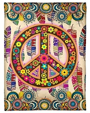 """Hippie Art Small Fleece Blanket - 30"""" x 40"""" front"""