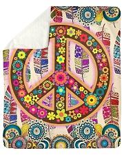 """Hippie Art Sherpa Fleece Blanket - 50"""" x 60"""" thumbnail"""