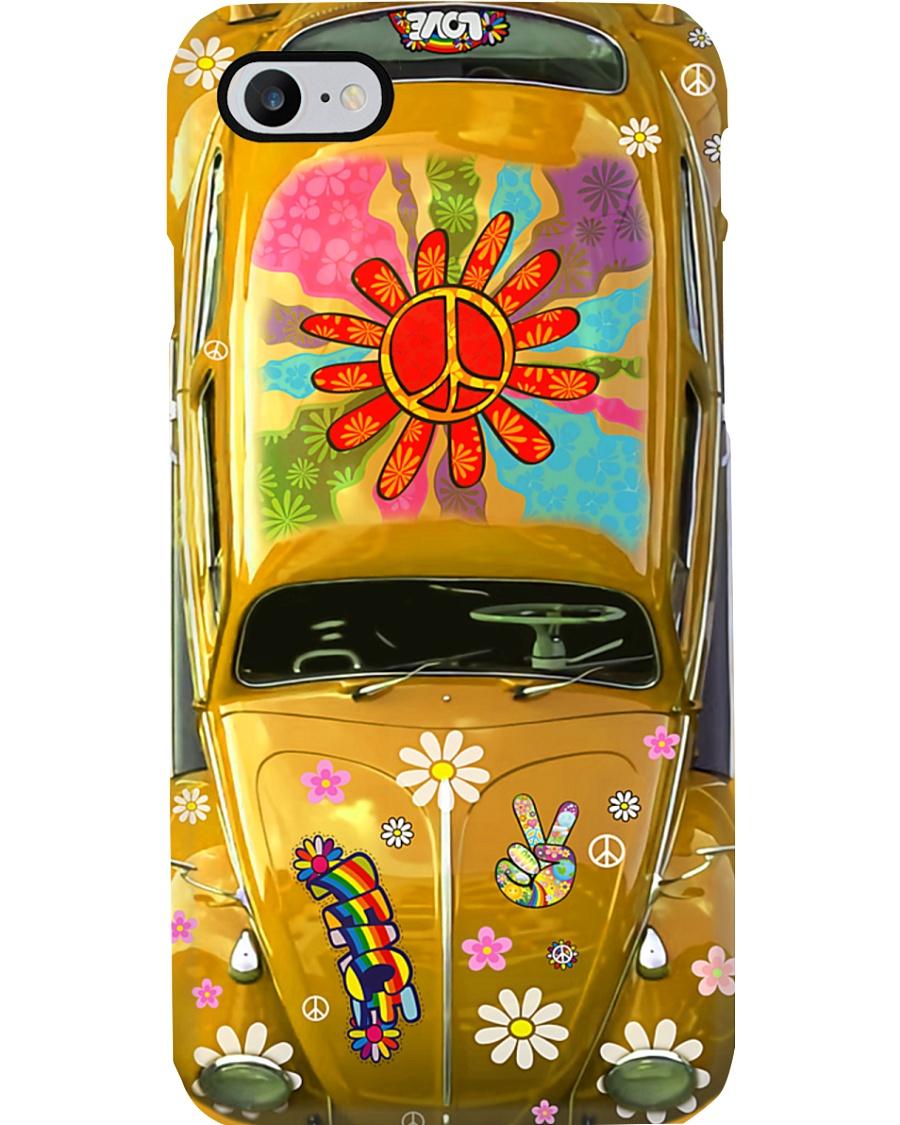 Hippie Vw Bug yellow Phone Case