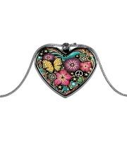 Hippie VW Bug Metallic Heart Necklace thumbnail