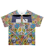 Hippie Girl - Vw Bus All-over T-Shirt thumbnail