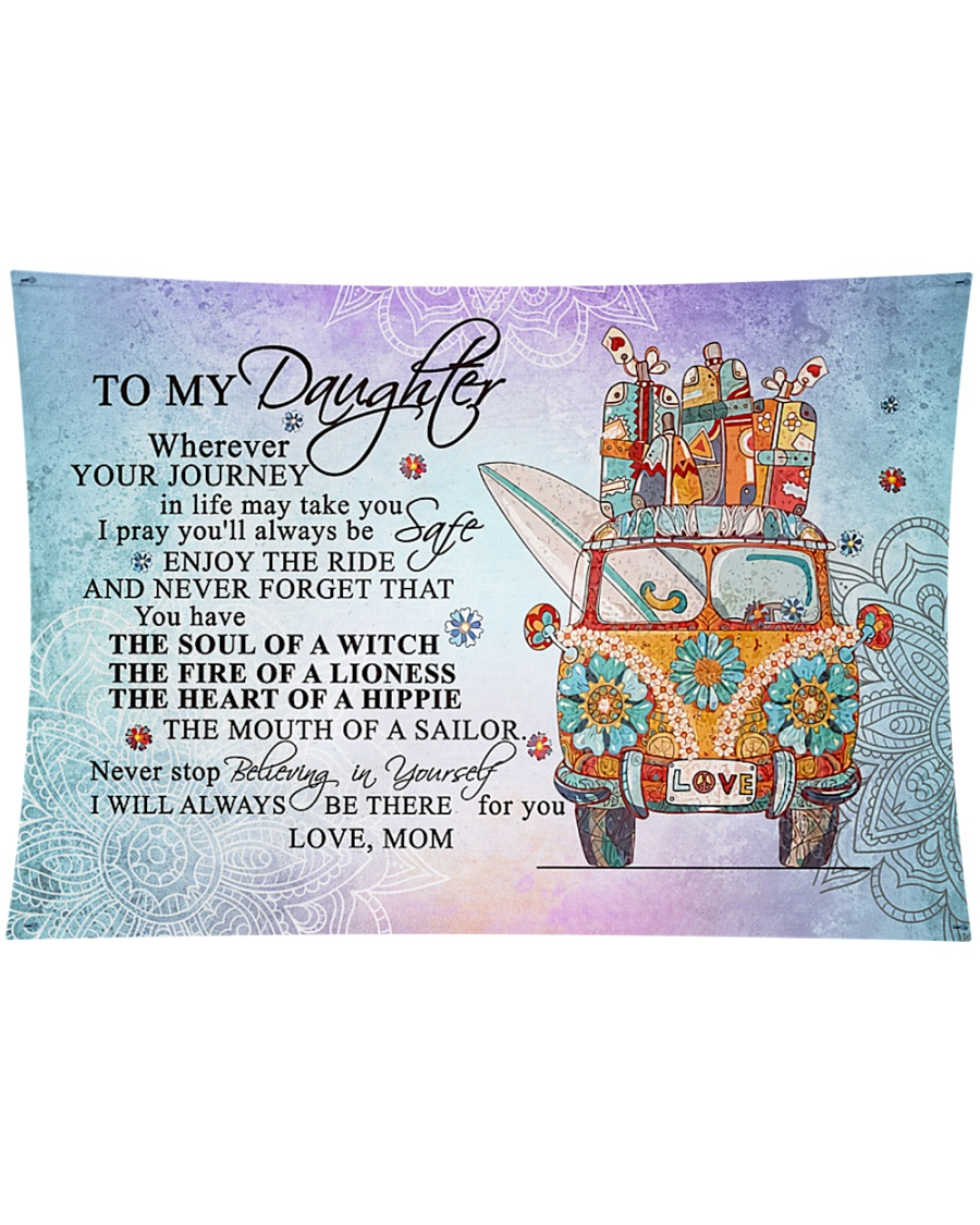 """To My Daughter Wall Tapestry - 36"""" x 26"""""""