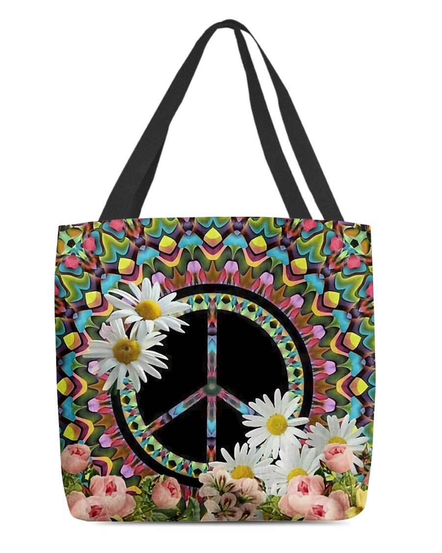 Flower Peace All-over Tote