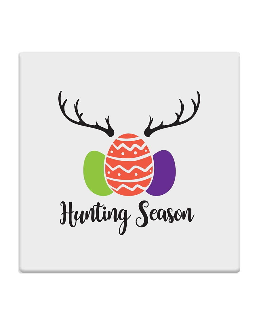 Easter Hunting Season Square Coaster