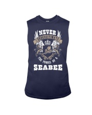Never Underestimate The Power of A Seabee Sleeveless Tee front