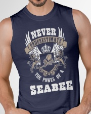 Never Underestimate The Power of A Seabee Sleeveless Tee garment-tshirt-tanktop-detail-front-chest-01