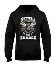 Never Underestimate The Power of A Seabee Hooded Sweatshirt thumbnail