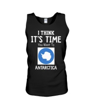 I think it's time you went to antarctica Unisex Tank thumbnail