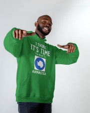 I think it's time you went to antarctica Hooded Sweatshirt apparel-hooded-sweatshirt-lifestyle-front-12