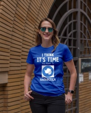 I think it's time you went to antarctica Ladies T-Shirt lifestyle-women-crewneck-front-2