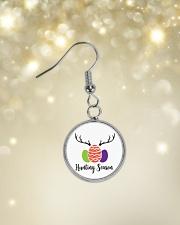 Easter Hunting Season Circle Earrings aos-earring-circle-front-lifestyle-3
